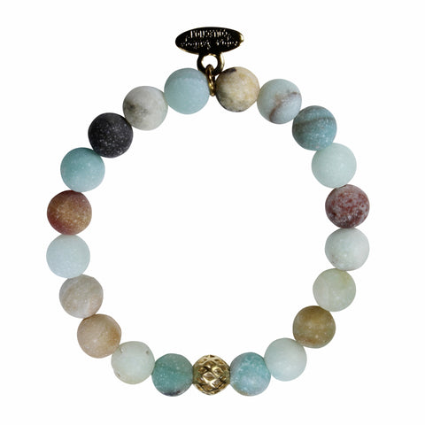 8mm Frosted Amazonite Bracelet
