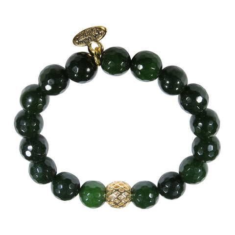 10mm Green Jade Bracelet