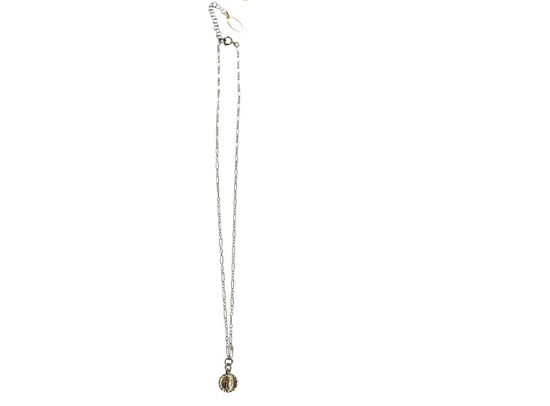 Gold Fill Dainty Guadeloupe Charm Necklace