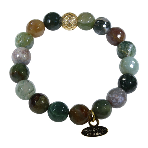 10mm Indian Agate Bracelet