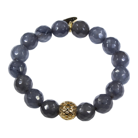 10mm Grey Jade Bracelet
