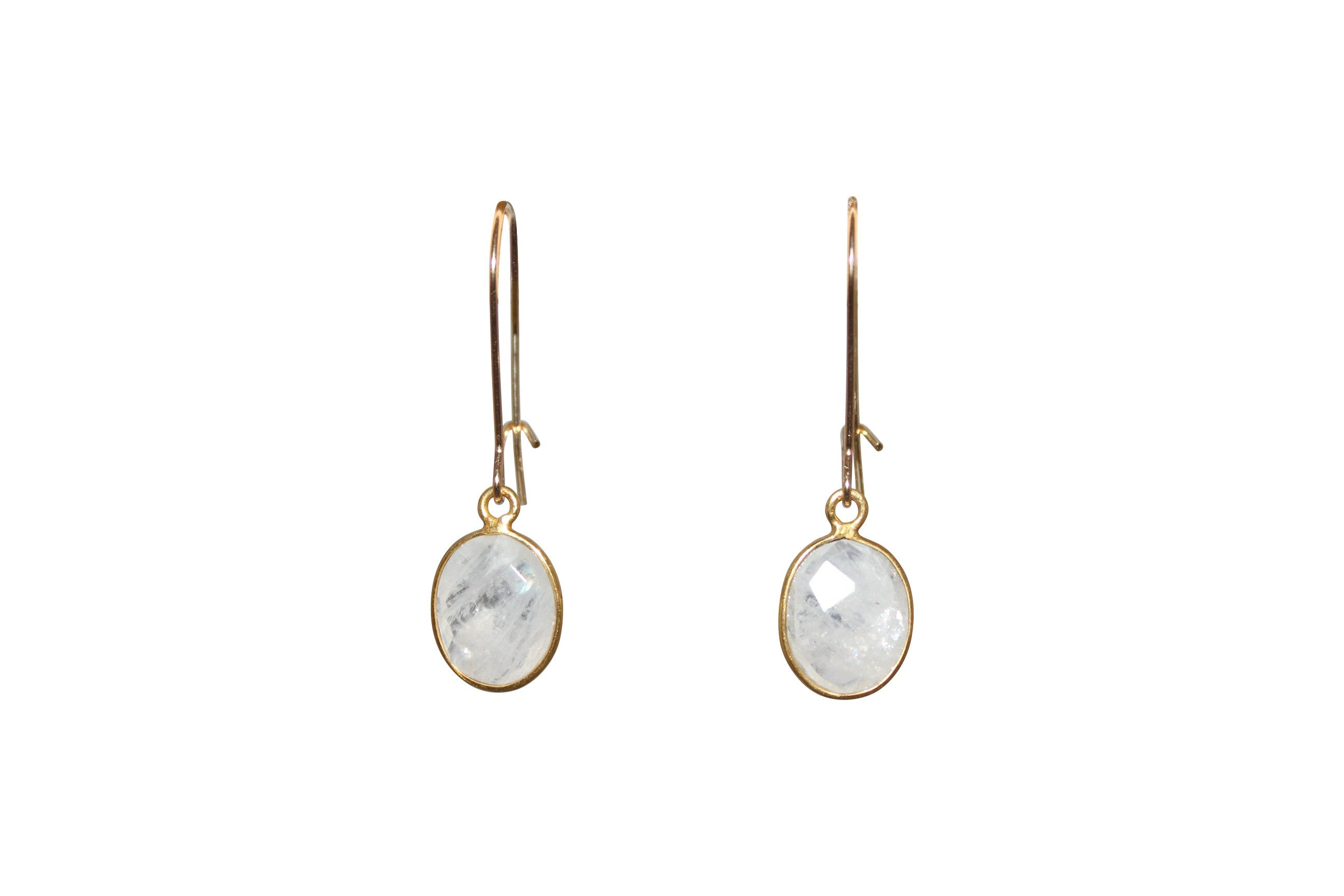 Well-liked Small Oval Moonstone Earrings – Cajun Heritage Collection ST08