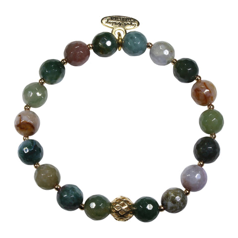 8mm Indian Agate Bracelet