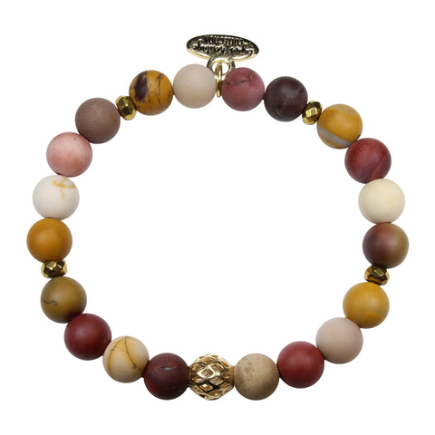 8mm Frosted Mookaite Bracelet