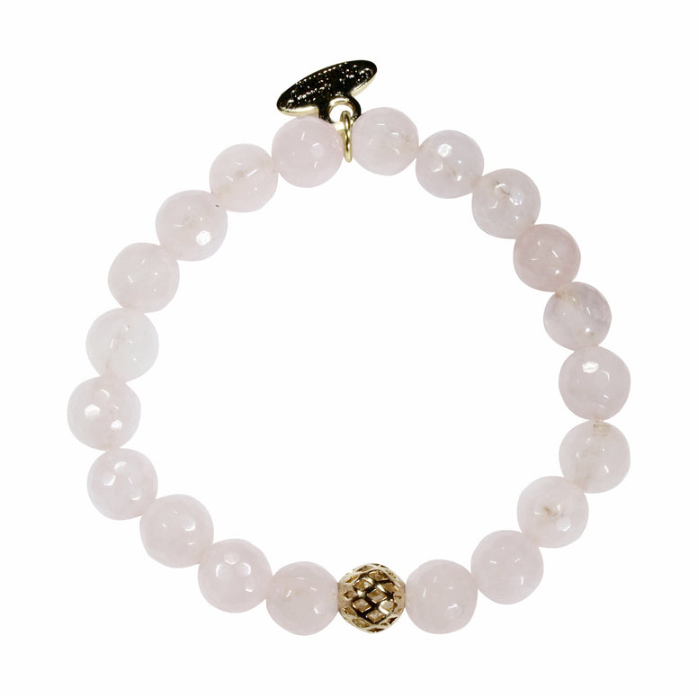 8mm Rose Quartz Bracelet