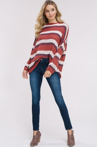 Multi-Colored Stripe Sweater