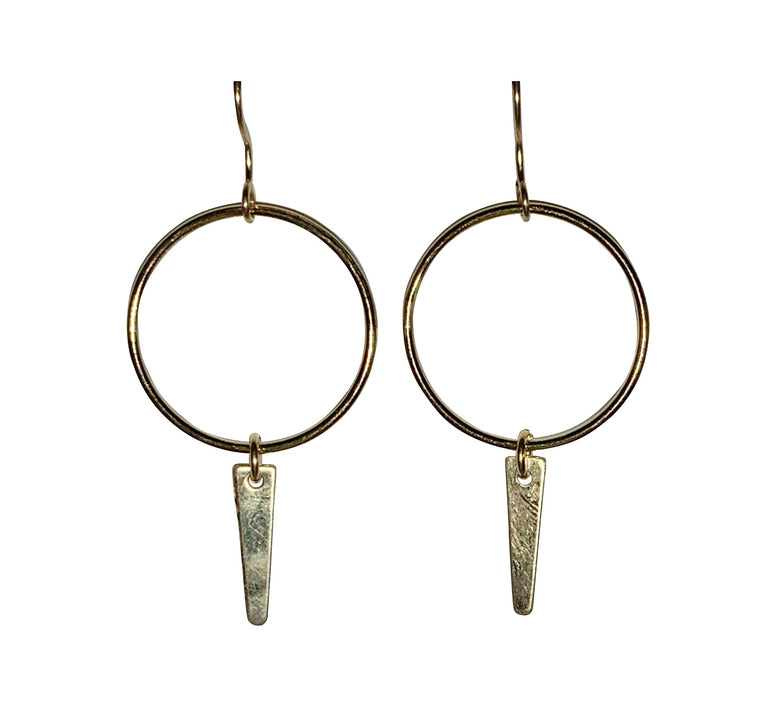 Gold Fill Spiked Round Link Earrings