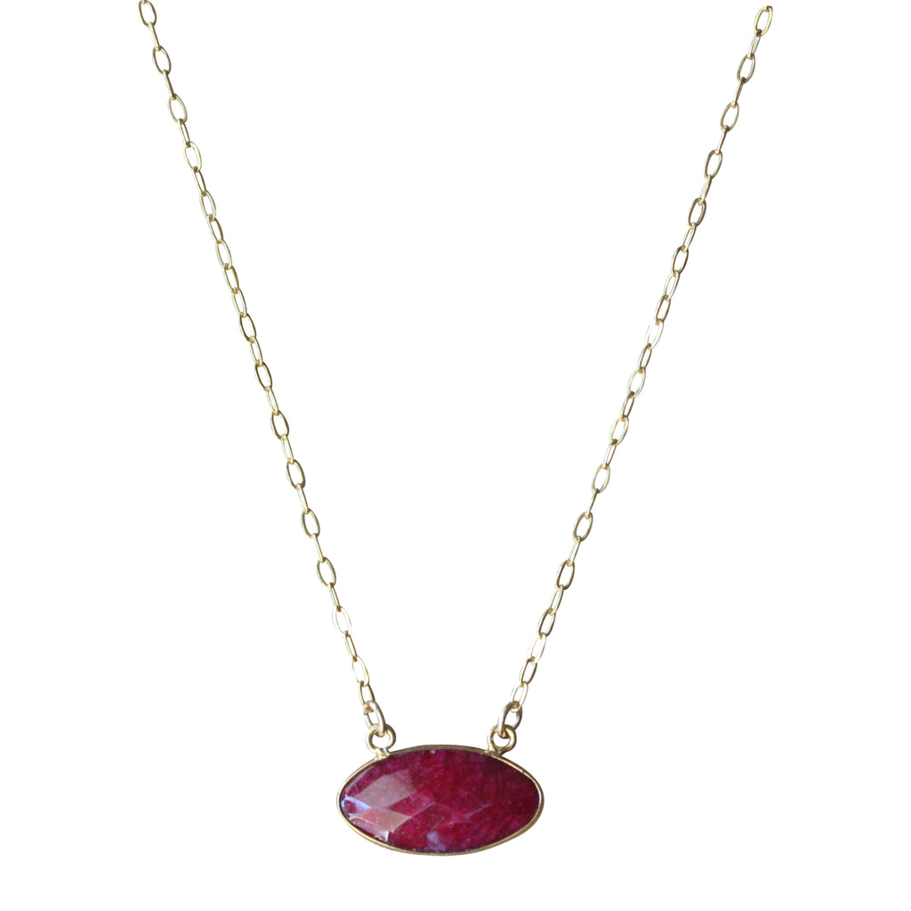 shaped necklace ruby pendant shop cut pendants necklaces heart