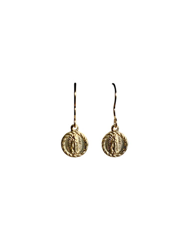 Gold Fill Dainty Guadeloupe Charm Earrings