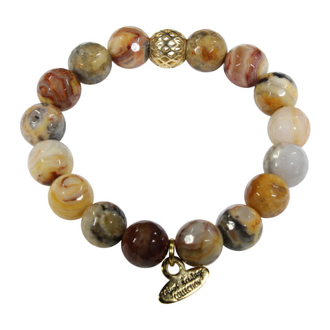 10mm Crazy Agate Bracelet