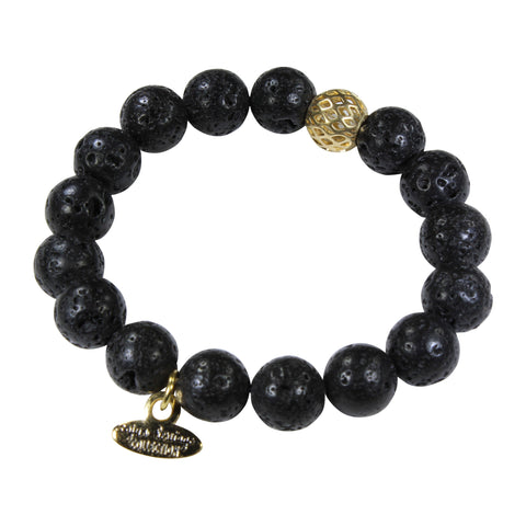 10mm Natural Lava Stone Bracelet