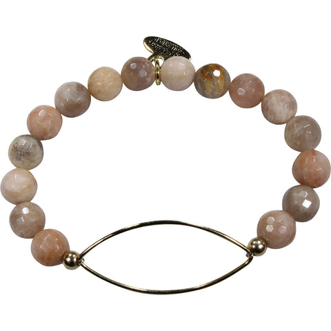 Sunstone + Golden Marquise Bracelet