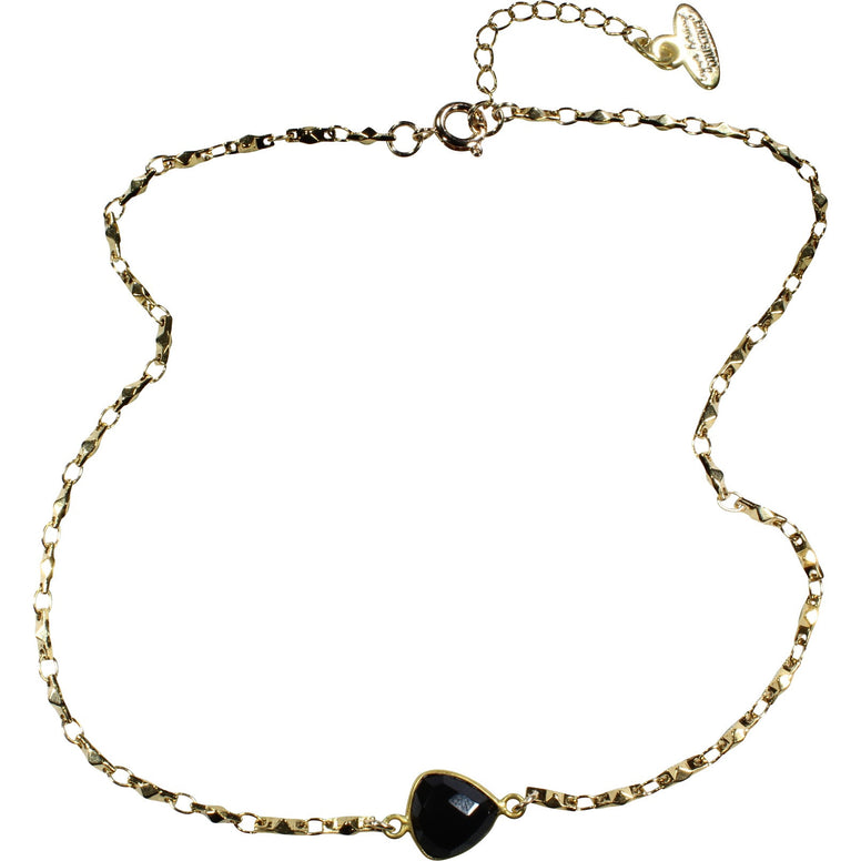 Black & Gold Choker Necklace