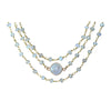 Triple Wrap Moonstone Choker Necklace