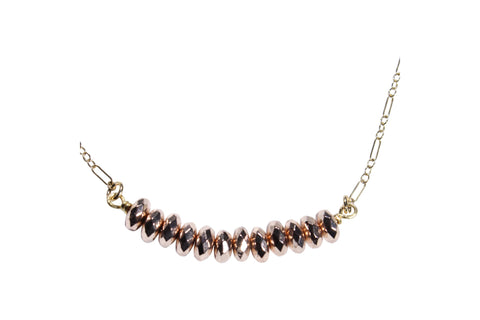 Rose Hematite Gold Fill Necklace