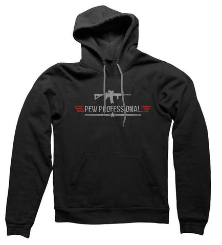 Pew Professional Heavy-weight Hoodie (BLACK)