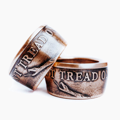 Copper Don't Tread On Me Coin Ring