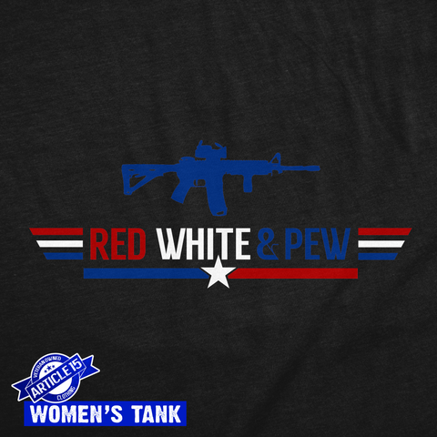 Red, White & PEW Women's Tank