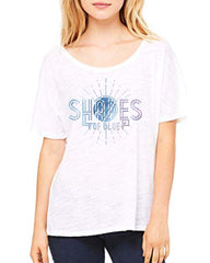 Women's Shades of Blue Slouchy Tee