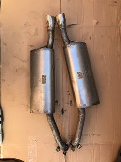 Jaguar X308 XJ8 Genuine Rear Exhaust Back Boxes Sections With Finisher End Tips