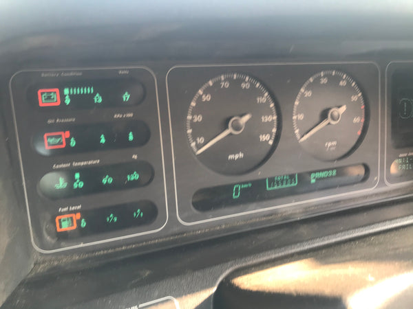 Daimler Jaguar XJ40 3.6/ 2.9 Digital Dash Display Instrument Cluster 67,985 miles displayed