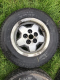 "Daimler JAGUAR 15"" XJS S3 series 3 Starfish Alloy wheels x4 15x6.5 5x120.65 PCD CAC4379 ET28.5 with tyres"