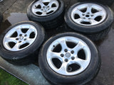 "Jaguar X300 X308 XJ40 16"" Eclipse alloy wheels and tyres x4 8Jx16 MNF6113BB"