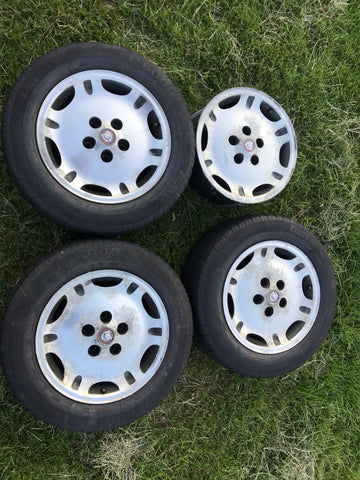 "Daimler Jaguar X300 X308 XJ40 16"" Dimple alloy wheels x4 8Jx16 ET33 5x120.65"