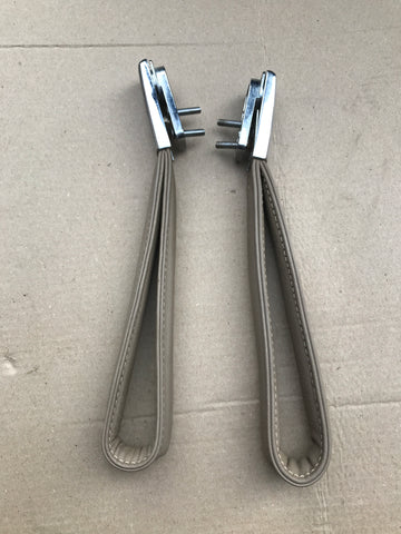 Jaguar XJ40 Leather Roof grab handles x2 AEE Doeskin