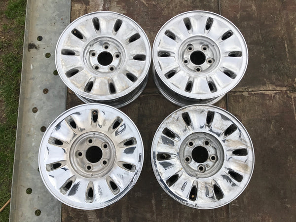 "Daimler JAGUAR 16"" X300 X308 XJ40 Chrome Turbine Alloy wheels x4 16x7J MNA6113CB"