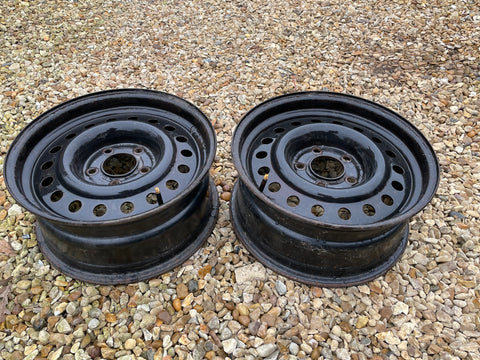 "Jaguar XJ40 XJS X300 16"" Steel wheels x2 CCC6904"