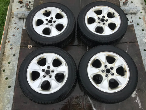 "Jaguar S-Type X-Type 16"" Alloy wheels x4 with tyres Pirelli P6000 225/55/16 XR831007BA"