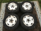 "Jaguar X300 X308 XJ40 16"" Dimple alloy wheels x4 7Jx16 ET33 5x120.65 GOOD TYRES"