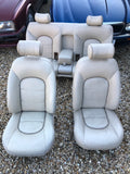 Daimler JAGUAR X300 NDR Cream Leather Front & Rear Seats Walnut Picnic Tables