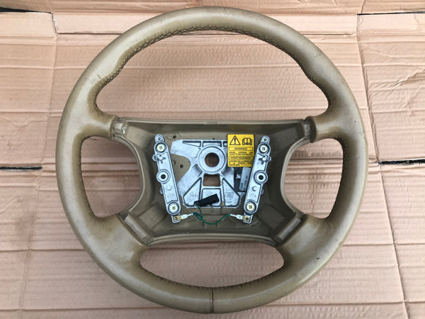 Daimler Jaguar X300 94-97 Coffee SDC Leather Steering Wheel