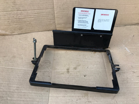 Jaguar XJS pre facelift battery clamp Strap & Label