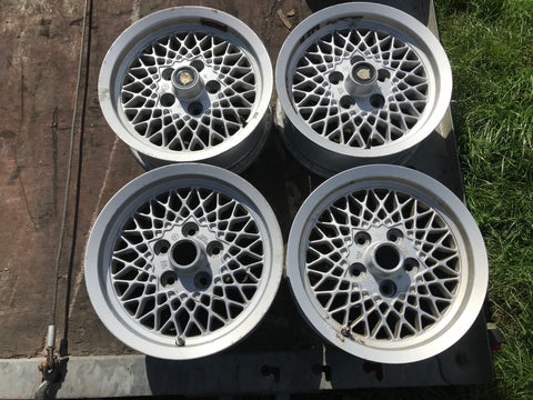 "Daimler JAGUAR series 1,2,3 XJS XJ40 15"" Lattice Cross Spoke alloy wheels x4 15x6.5J 5x120.65 pcd CBC2469"