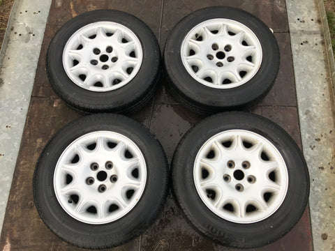 "Jaguar X300 X308 XJ40 16"" Alloy wheels x4 with tyres Star Burst MNC6113AC"