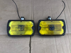 Fog Lamps Lights Yellow Sev MARCHAL 750/759 France French Jaguar XJ40 XJS