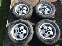 "JAGUAR 15"" XJS S3 series Starfish Alloy wheels x4 15x6.5 5x120.65 PCD CAC4379 ET28.5 with tyres"