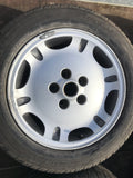 "Jaguar X300 X308 XJ40 16"" Dimple alloy wheels and tyres x4 8Jx16"