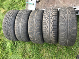 "Jaguar XJS X300 X308 XJ40 16"" 5 Spoke Alloy wheels x5 with tyres  7Jx16  CCC4943"
