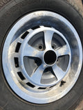 "Jaguar XJS Series 1 2 3 Kent style 15"" alloy wheel x1 diamond turned Pirelli P4000 215/70/15 tyre"