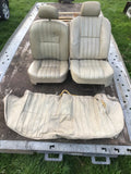 Jaguar Series 3 III Leather Front Seats Doeskin AEE