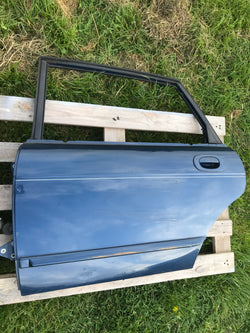 Jaguar X300 stripped Door shell NSR left Rear  94-97 X300, SWB.  Sapphire Blue/ JGE
