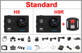 Action camera H9/H9R Ultra HD 4K WiFi 1080P 60fps 170D - Pedal Kingdom
