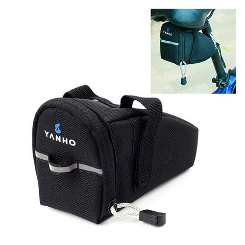 Waterproof Black Reflective Cycling Seat-Post Pouch - Pedal Kingdom