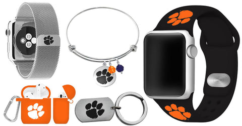 Clemson Product Group Apple Watchband Stailess Steel AipodCase Keychain Bangle Bracelet