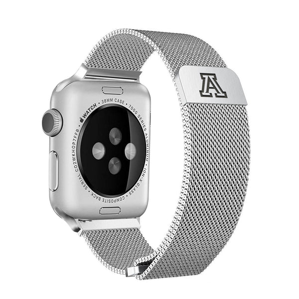 Arizona Wildcats Stainless Steel Replacement Apple Watch Band - DealsAmazingDeals.com