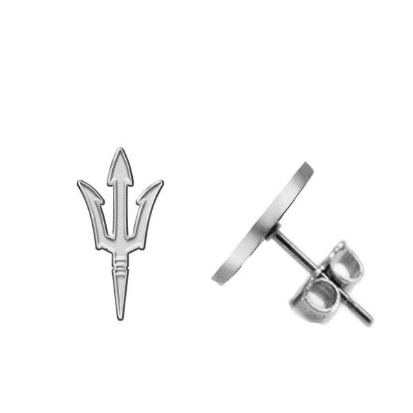 Arizona State Sun Devils Silver Stud Earrings - DealsAmazingDeals.com